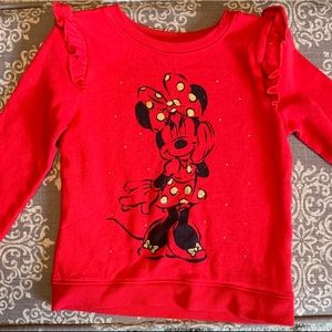 Red Minnie Mouse sweatshirt